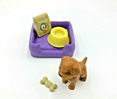 Barbie 2018 Dream House Puppy, Bone, Dog Bed, Food Bag & Bowl Replacement FHY73