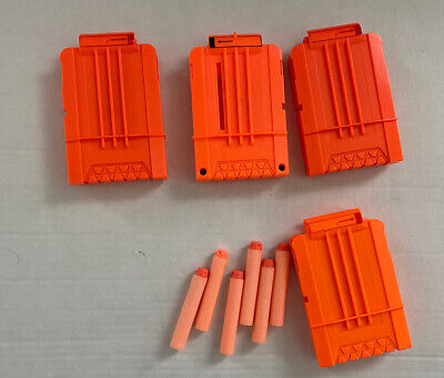 Set of 4 Nerf Clip Magazines with 5 Darts