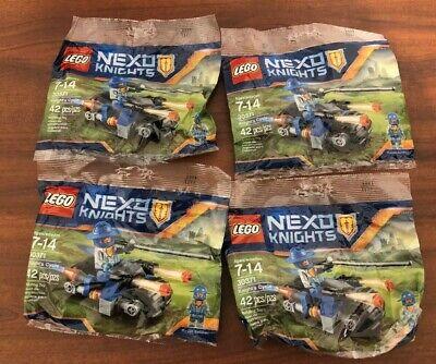 Lot of (4) LEGO 30371 Nexo Knights Knight's Cycle w/ Royal Guard Minifigure NEW