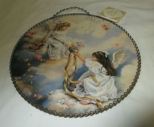 NWT  Chimney FLUE COVER VICTORIN STYLE PRINT 2 Angels/Girls GIVING GIFT USA