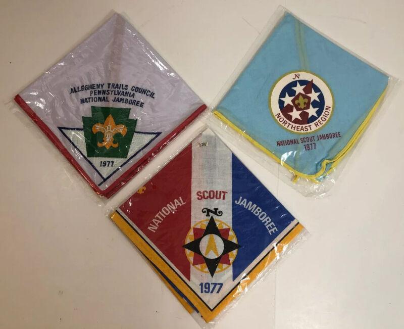 Boy Scouts of America BSA 1977 National Jamboree Neckerchief Collection