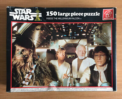 1977 Star Wars Vintage Jigsaw Puzzle Waddingtons Inside Millennium Falcon