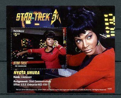 Tuvalu 2016 MNH Star Trek Original Series 50th Anniv Nyota Uhura 1v S/S Stamps