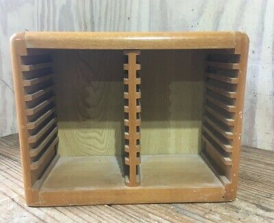 Wood Double Sided 36 Cd Storage Rack