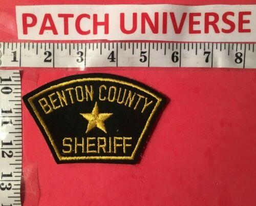 VINTAGE BENTON COUNTY OREGON SHERIFF SHOULDER PATCH  S103