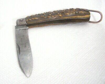 "Antique Folding KNIFE Thomas Turner Encore Sheffield CIVIL WAR MINERS Lg 4 3/4"""