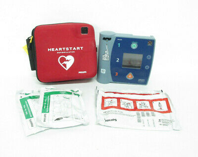 Philips Heartstart Fr2 Aed Defibrillator Case And Pads
