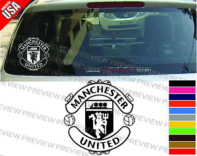 MANCHESTER UNITED SOCCER FOOTBALL cool Decal Car Truck Window bumper -