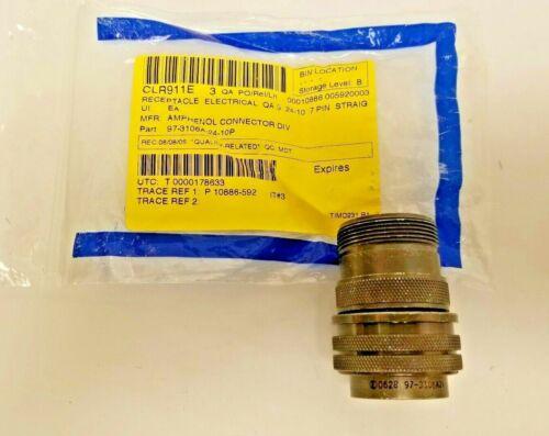 Amphenol Circular 7 Pin Connector 97-3106A-24-10P - NEW
