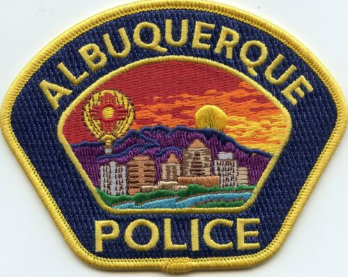 ALBUQUERQUE NEW MEXICO NM Yellow Border Blue Background POLICE PATCH