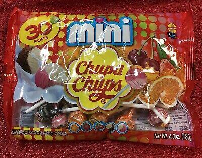 30 Mini Chupa Chups Cremosa Lollipops Orange Strawberry Vanilla Chocolate - Orange Lollipop