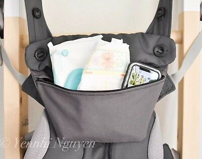 Used, Ergo baby pouch for 360 omni baby carrier CARBON DARK GREY purse pocket bag for sale  Shipping to South Africa