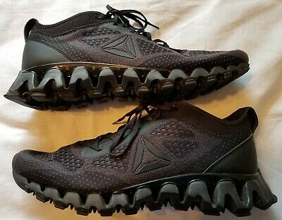 Reebok Zigtech Training Shoes Running Shoes Size 14 Black On Black 023501