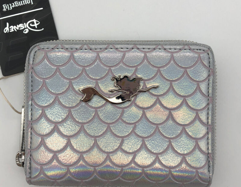 Loungefly Disney The Little Mermaid Ariel Pearl Zip Around Small Wallet