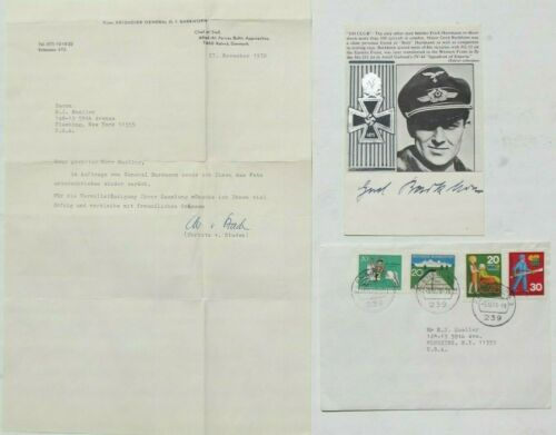 Gerhard Barkhorn 2nd Highest WW II German Ace 301 Victories Autograph
