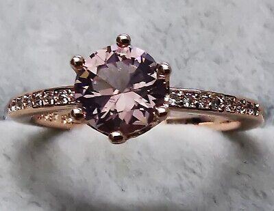 Pandora 188289C01 Pink Sparkling Crown Solitaire Ring SIZE 54 ALE