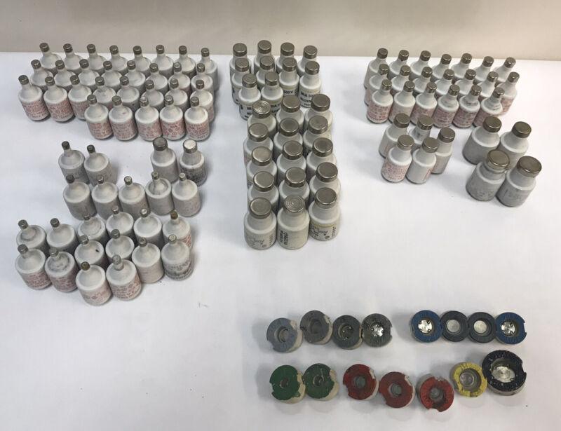 Vintage Bottle fuse ,Lot of 121 Siemens Original Diazed Fuse 500 Volts