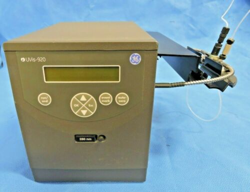 GE Healthcare UVis-920 Absorbance Monitor Detector with Flow Cell & 280nm Filter