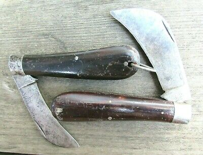2 Antique Hibbard Spencer Bartlett Pruning Knives Early 1900's Era 9773 & 2874