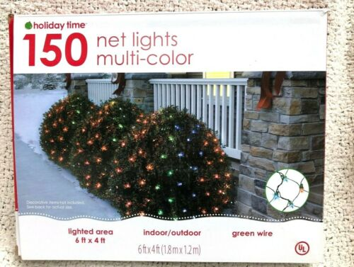 1 Box Holiday Time  150 Ct Net Lights  Multi-Color  6 ft. by 4 ft