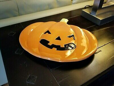 Halloween Party Serving Dishes (Jack O' Lantern Ceramic Serving Platter - Halloween, Fall Party,)