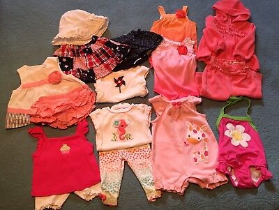 BABY GIRL Size 3 - 6 month **ALL GYMBOREE** summer clothes LOT 16pc