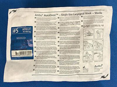 Ambu 321500000u Auraonce Single Use Laryngeal Mask 5 Adult - 1 Each