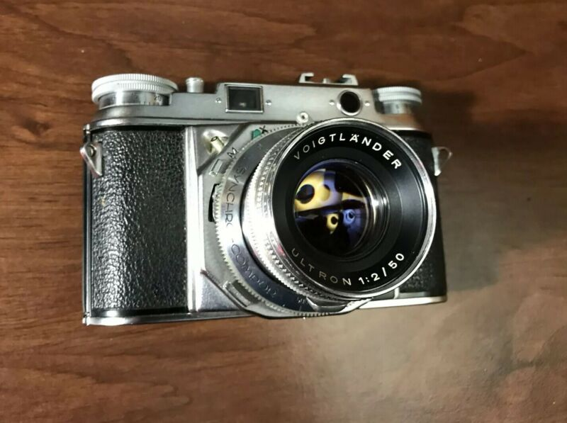Voigtlander Prominent Rangefinder Film Camera with Ultron 50mm f/2 2/50 Lens EXC