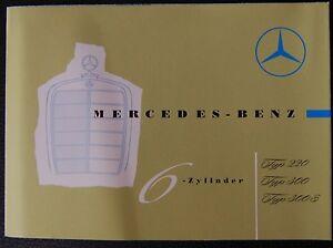 MBIG-Mercedes Benz Prospekt (6-Zyl.) 220, 300, 300 S Oldtimer Oldtimer