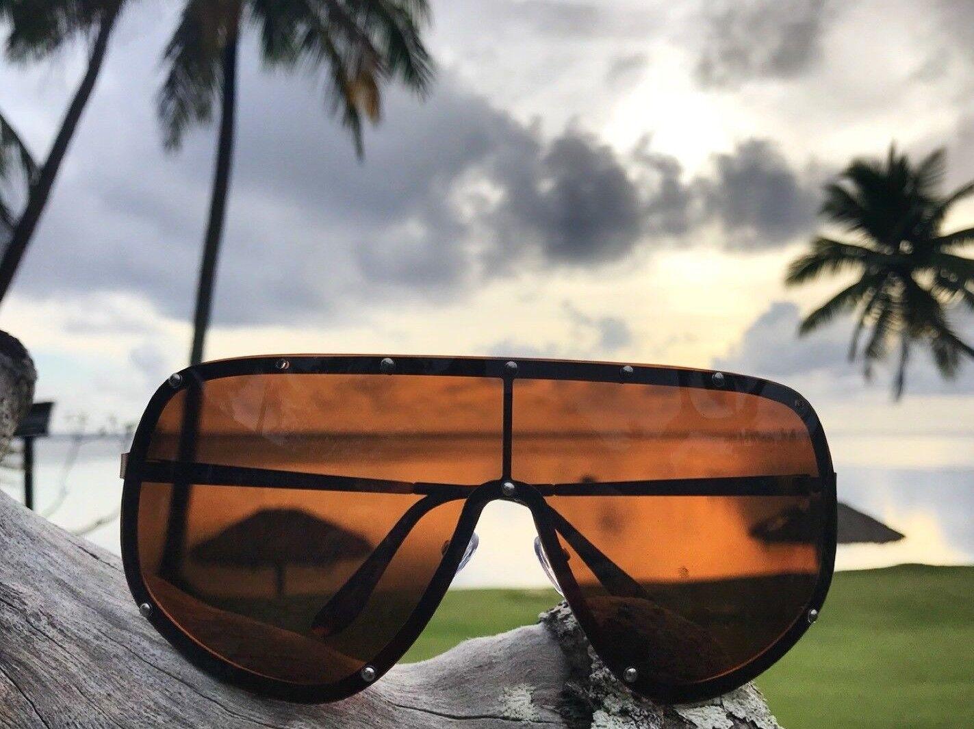 86fb9c6ed95 OVERSIZED Huge Big MASK SHIELD Half Face Owen Polarized Large MIRROR  Sunglasses
