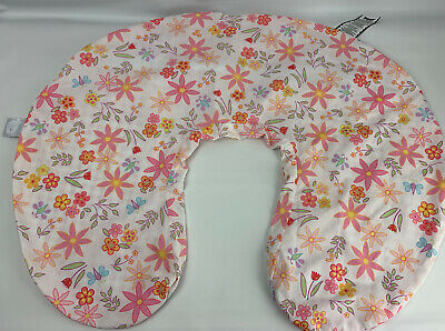 Boppy Baby Classic Slipcover Butterflies Flowers Pink Gingham Check Pillow Cover