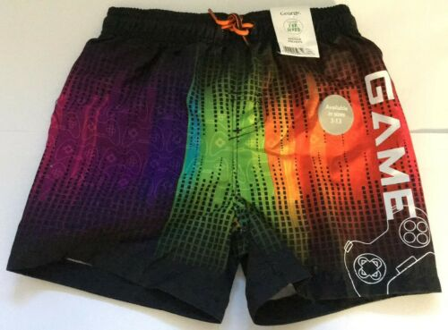 Boys Multi Coloured Game Control Swimming Shorts Pocket Age 5,6,7,8,9 Years