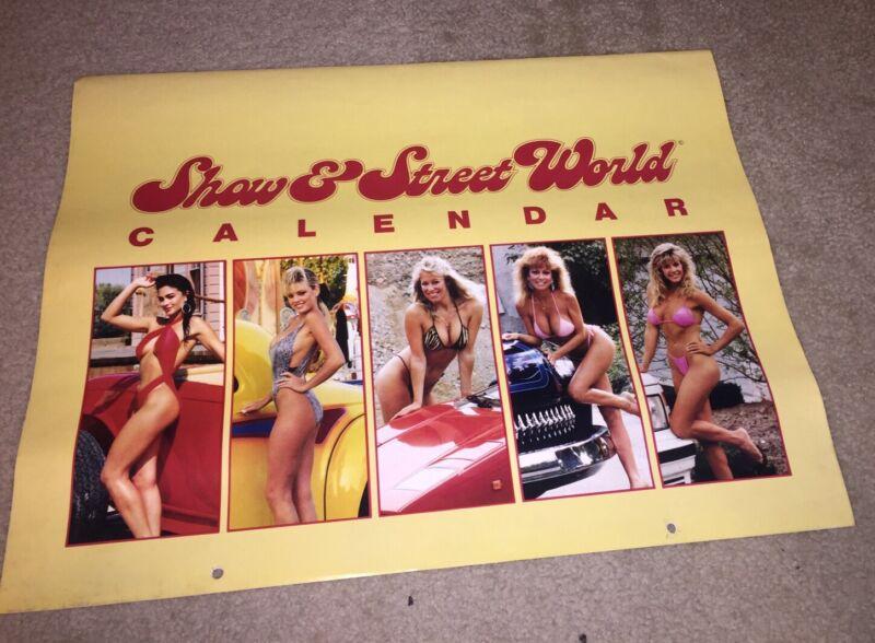 Rare Show & Street World Hot Rods & Girls Calendar 1988 Porsche Lamborghini