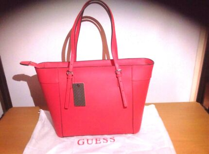 Brand new Guess genuine leather limited edition coral tote  Homebush Strathfield Area Preview