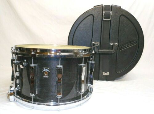 """Absolutely Stunning Vintage 1992 Ludwig Coliseum 8 x 14"""" Charcoal Shadow Snare"""
