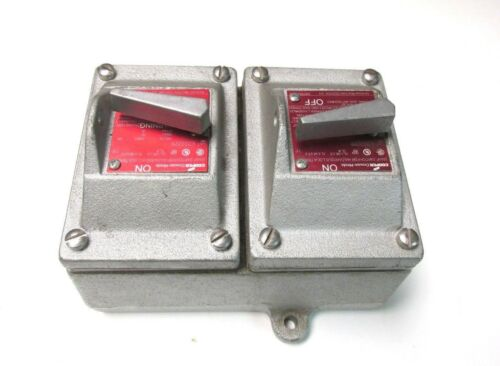 NEW Cooper Snap Switch (Double) for Hazardous Locations Cat# EDS2229 ... VH-94