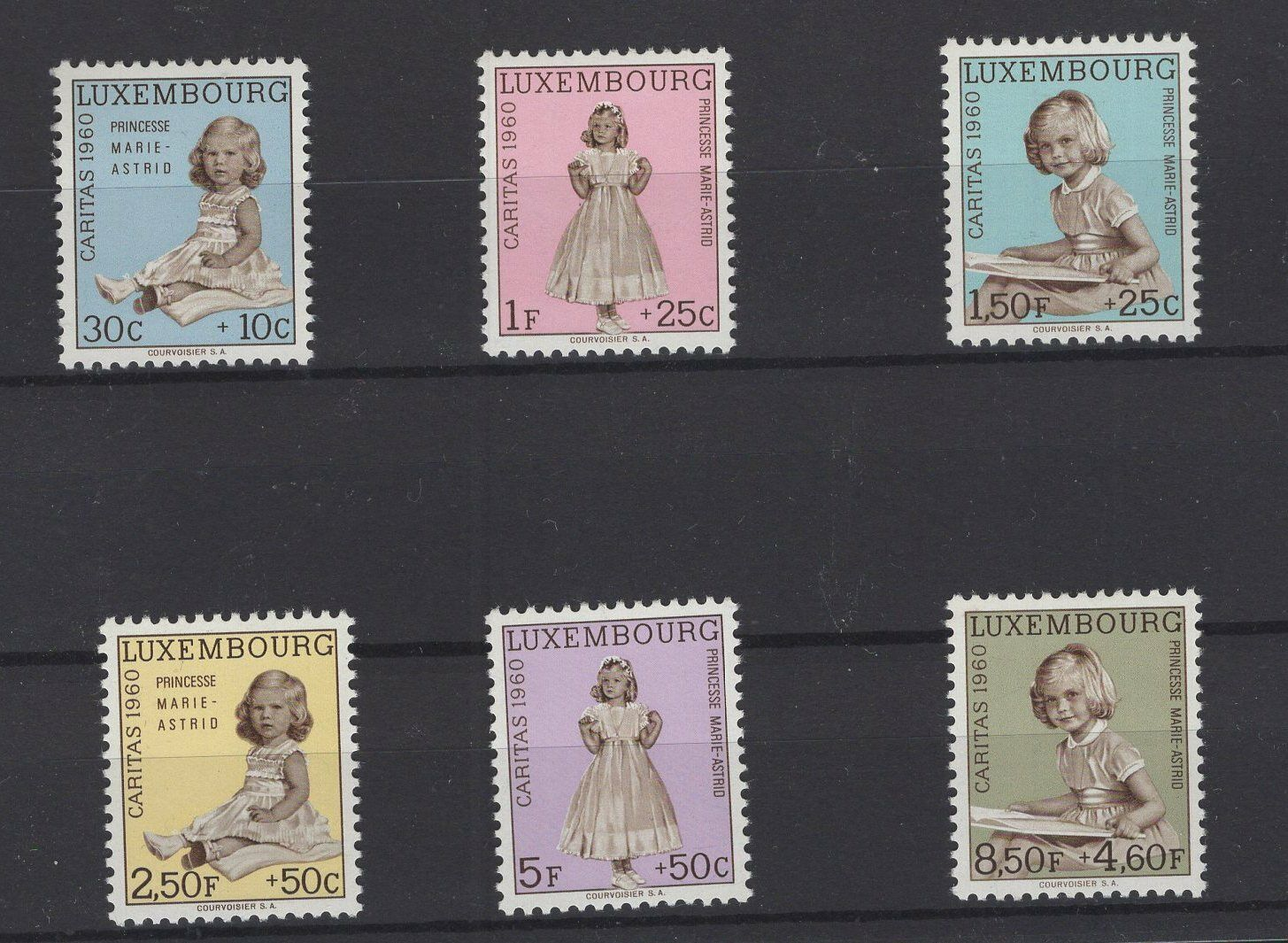LUXEMBOURG, STAMPS, 1960, Mi. 631-636 **