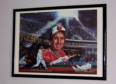 Brooks Robinson HAND SIGNED Lithograph,  Robert Stephen Simon Artist