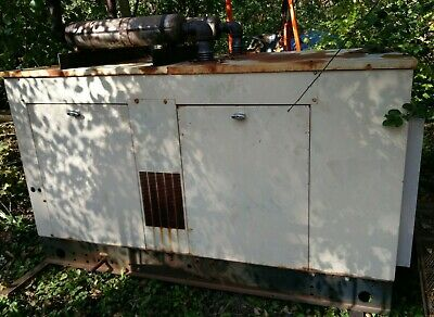 Generac 40 Kw 120208 3 Ph Natural Gas Back Up Generator Genset 467 Hours