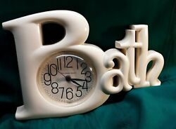 Vintage Kitsch MOD New Haven Quartz Burwood Bath Wall Clock works.