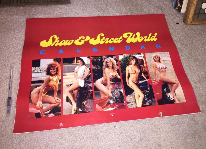 Rare Show & Street World Hot Rods & Girls Calendar 1985 Corvette Coyote Vw Bug