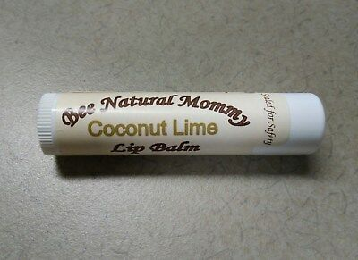 Coconut Lime Lip Balm - Natural Beeswax Chapstick - Better than