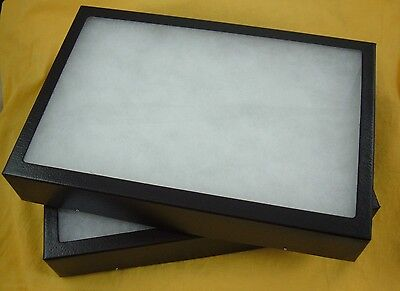 Two Jewelry Display Case Riker Mount Display Collectors Frame 12 X 16 X 1 14