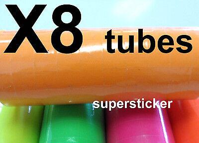 Orange Price Tags For Mx-6600 2 Lines Gun 8 Tubes X 11 Rolls X 500
