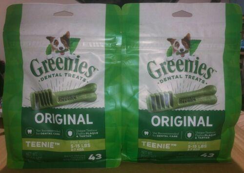 GREENIES Original TEENIE Natural Dental Dog Treats, 43 Treats X  2 (86 Treats)