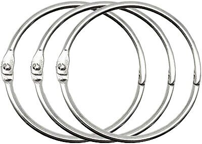2 Inch 50 Pack Loose Leaf Binder Rings Nickel Plated Steel Binder Rings
