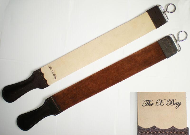 "Barber Leather Strop Straight Razor Sharpening Shave Shaving 2.5"" X 25"" LARGE"