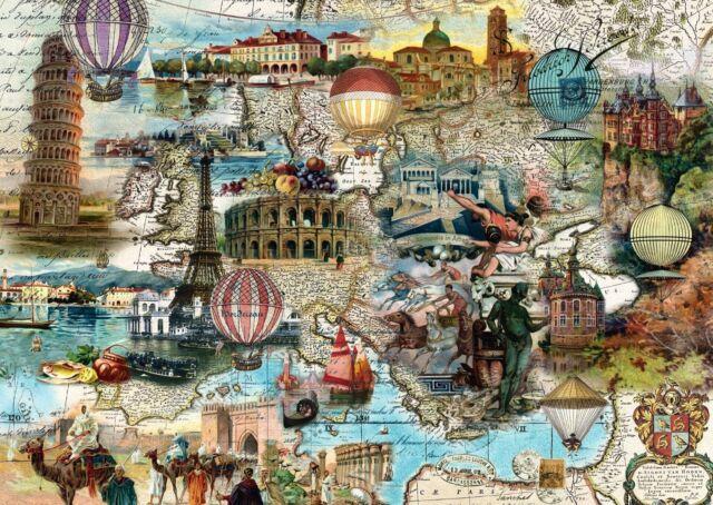 Hot-air Balloon Flight through Europe Schmidt Jigsaw Puzzle 1000 pieces 58205