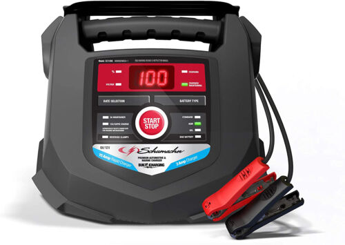 Schumacher Fully Automatic Battery Charger and Maintainer 15 Amp/3 Amp