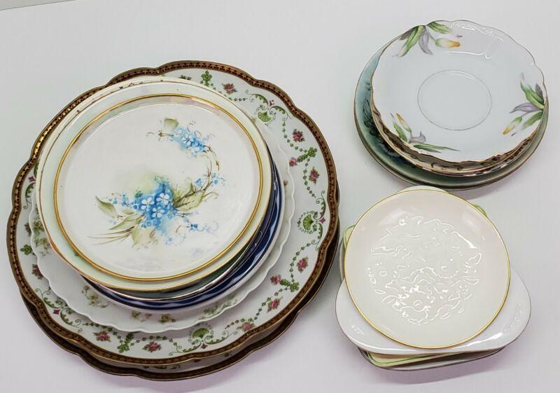 Vtg Antique Fine China Porcelain Plate & Saucer Mixed Estate Lot England Japan